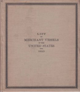...List of Merchant Vessels of the United States... 1910