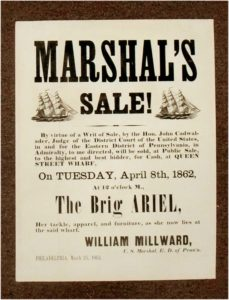 Marshall's Sale! By Virtue of a Writ of Sale... will be sold to the highest and best bidder
