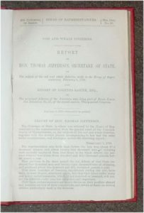 Misc. Doc. 32. House of Representatives. Cod and Whale Fisheries. Report of Hon. Thomas Jefferson... Also Report of Lorenzo Sabine on the Principal Fisheries of the American Seas..