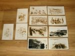 Collection of 13 Real Photo Postcards Depicting a US Navy Ship Crossing the Line.