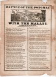 Battle of the Potomac with the Malays. Written by One of the Crew.