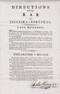 Directions for the Bar of Figueira in Portugal.
