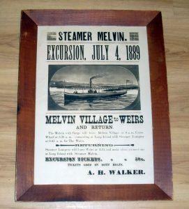 Steamer Melvin. Excursion