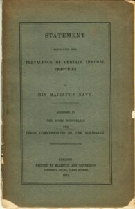 Statement of Certain Immoral Practices Prevailing in His Majesty's Navy: Addressed to the Lords Commissioners of the Admiralty.