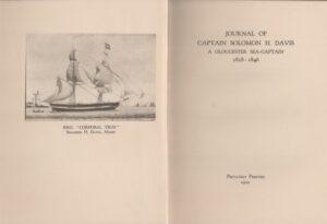 Journal of Captain Solomon H. Davis.